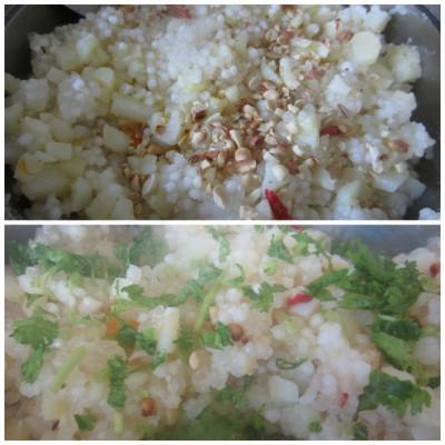 cooked sabudan khichdi