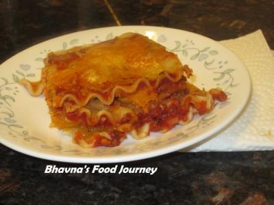Lasagna with Butternut squash