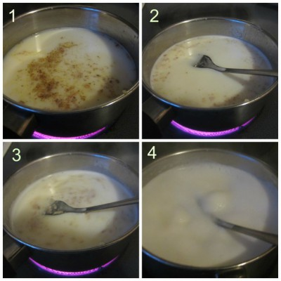 Boil Milk and water
