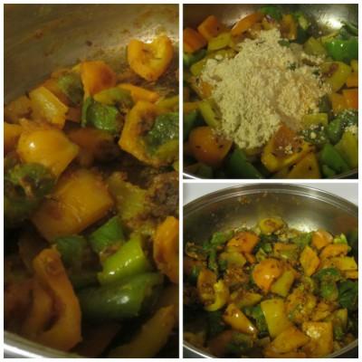 Cook masala mirch