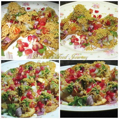 Sev puri collage