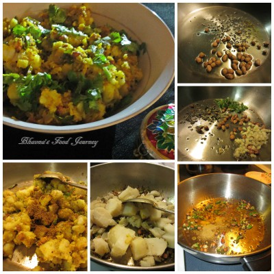 Cook curried potato
