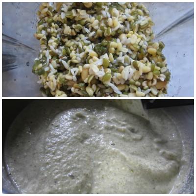 Make dhokla batter