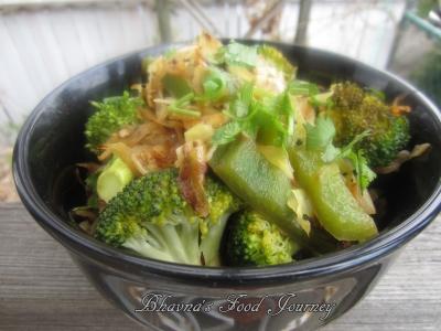 Cabbage Broccoli Stir fry