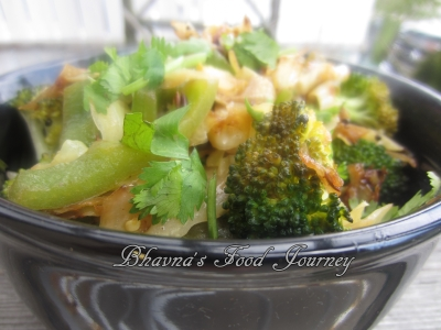 Cabbage Broccoli Stir fry1