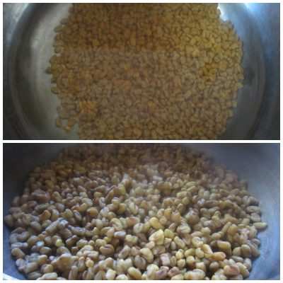 Cook fenugreek seeds