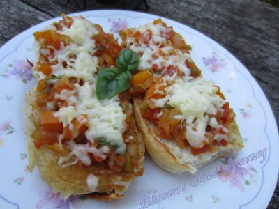Italian Flavoured Open Sandwich