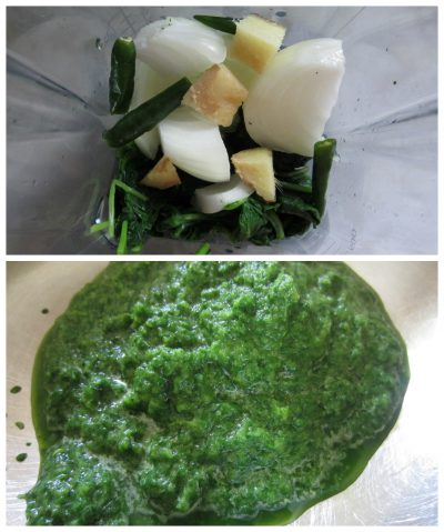 Spinach paste