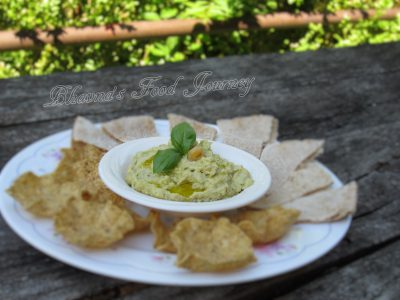 Roasted Garlic Basil Hummus2