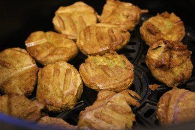 Air fried falafel