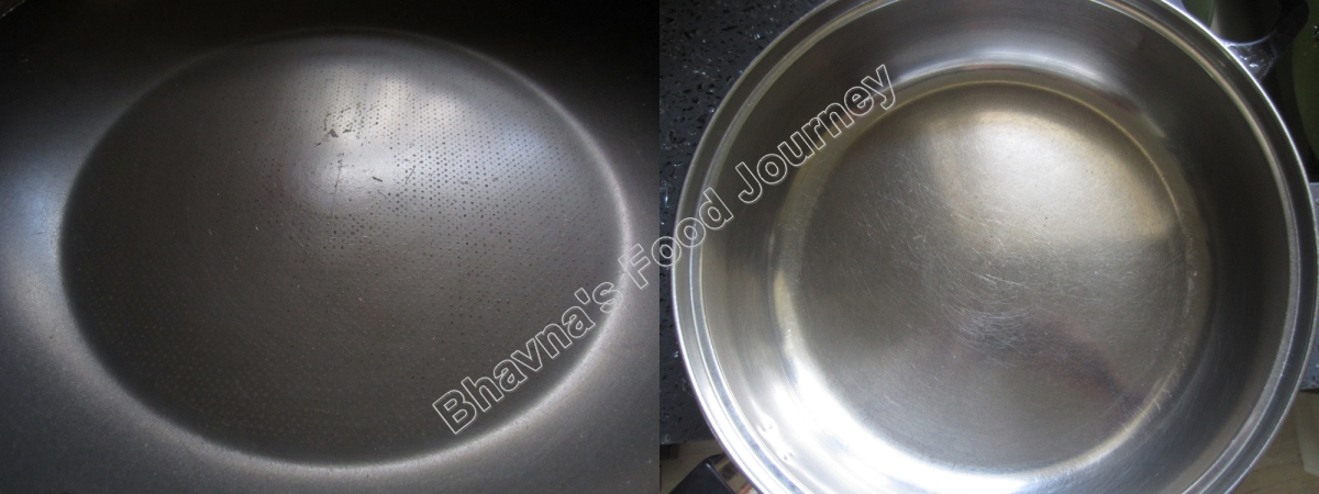 How to clean greasy stainless steel/non stick pans and pots?