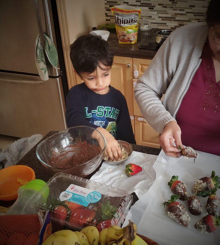 Bhavna's Food Journey - Riyan helping Nani