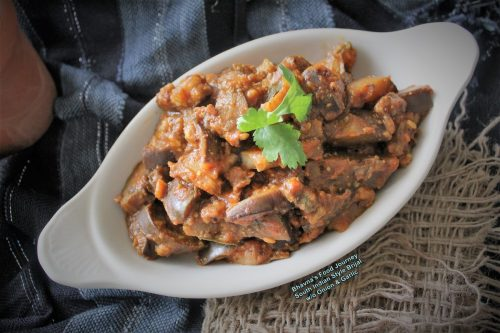 South Indian style brinjal